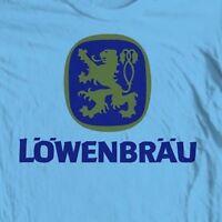 Lowenbrau Beer T-shirt retro German bar 100% cotton graphic printed tee