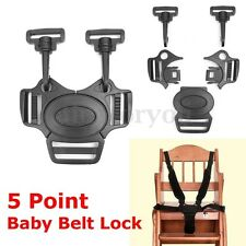 1Pc 5-Point Baby Stroller Pram Buggy Chair Safe Belt Strap-Infant Harness Buckle