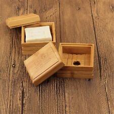 1PC Bamboo Soap Dishes Creative  Manual Drain  Soap Box  Wooden Soap Holder.