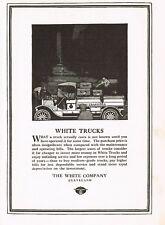 1917 Original Vintage White Truck Company Motor Car Automobile Art Print Ad b
