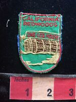 Vtg & Rare CALIFORNIA REDWOODS ONE-LOG HOUSE Patch - Tourist Attraction 75WO