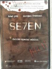 SE7EN - Brad Pitt Morgan Freeman - Deluxe Edition - 2 DVD set - Like New  # 1394