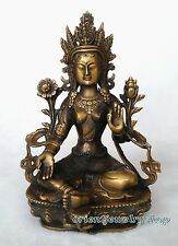 Tibetan Vintage Buddhism Old Bronze God Buddha Statue