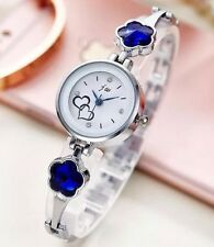 Fashion Women's Diamond Crystal Stainless Steel Bracelet Dial Quartz Wrist Watch