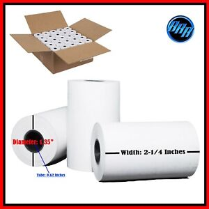 """2 1/4 """" X 50 ' THERMAL PAPER 100 ROLLS  FIRST DATA FD400 CREDIT CARD TERMINAL"""