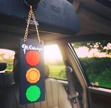 FEU ORANGE STYLE CLASSIC CAR RETRO TRAFFIC LIGHT KEY CHAIN CAPRI ESCORT MINI