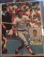 Boston Red Sox CARL YASTRZEMSKI Color Photo Baseball Print Poster W/ Card Image!