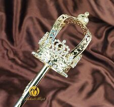 Gold Royal Scepter Wand Beauty Pageant Wedding Accessories Sceptre Prop Staff