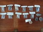 Lot of 14 Genuine Stone Arrowheads & Fossils - Raddatz, Marcos, Eva, Palmer