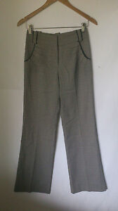 REVIEW, SIZE 6, GREY/BLACK, CAREER/CORPORATE PANTS