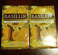 "Basilur Ceylon Black Tea ""Magic Fruit""  Mango and Pineapple 2 box (40 tea bag)"