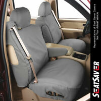 Covercraft Carhartt SeatSaver Front Row Custom Fit Seat Cover for Select Jeep Grand Cherokee Models SSC2489CABN Duck Weave Brown
