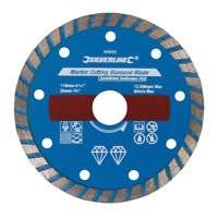 Silverline Marble Cutting Diamond Blade 110 x 20mm Castellated Continuous Rim