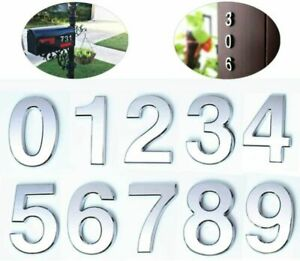 10CM Self Adhesive Letterbox House Numbers for Wall, Door Mount Address 0-9