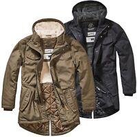 Brandit Marsh Lake Parka Fishtail Mantel Outdoor Jacke gesteppt Teddyfell S-XXL