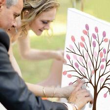 Wedding Birthday Activities Fingerprint Tree Painting+inkpad Canvas Signature