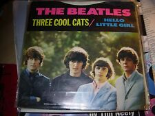 "BEATLES three cool cats / hello little girl ( rock ) 7"" / 45 - deccagone yellow"