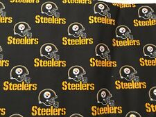 Pittsburgh Steelers 100% COTTON FABRIC 1 LARGE Quarter 18 x 29