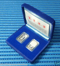 "1981 Singapore Mint's ""富贵, 康宁"" 10 grams Sterling Silver Proof Ingot / Bar"