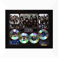 KISS Signed & Framed Memorabilia - 4CD - Black - Limited Edition