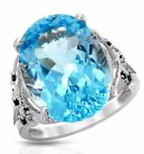COCKTAIL RING 15.21CTW GENUINE SPINELS AND TOPAZ 925 STERLING SILVER. BRAND NEW