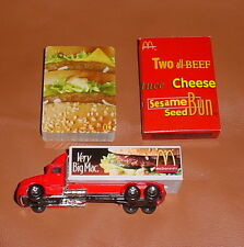 Very Big Mac McDONALD'S Delivery Truck  1996 Hot Wheels ~ Plus deck of cards