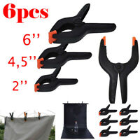 6 x Market Stall Spring Clamps Large Metal Heavy Duty Clips Tarpaulin Sheets