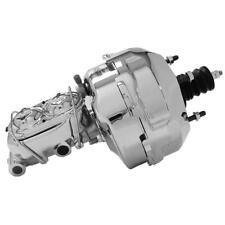 """Tuff-Stuff Power Brake Booster & Master Cylinder 2129NA; 9"""" Chrome for Corvette"""