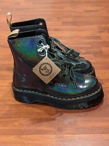 Dr. Martens Vegan Molly Gunmetal Glitter Wmns Boot (size us wmns 10)