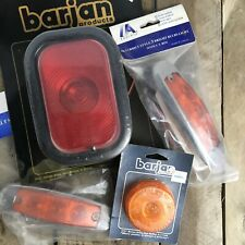 Lot Vintage Truck Red Amber Light Lenses Reflectors SAE Barjan Pacific Semi