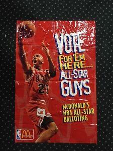 1996 Michael Jordan AIR McDonald's All Star Game Vinyl LARGE Poster 42x28 BULLS