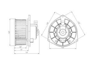 HVAC Blower Motor Front TYC 700206
