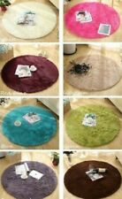 Round Rug Carpet Living Room Comfortable Fluffy Plush Polyester Home Decoration