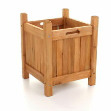 Wooden Garden Planters Outdoor Plants Flowers Pot Square Display NEW