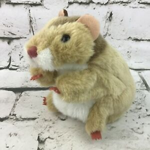 Folkmanis Hamster Plush Hand Puppet Rodent Light Tan Soft Animal Theater Toy