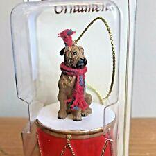 Bull Mastiff Ornament Drum Brown Dog Christmas Ornament New