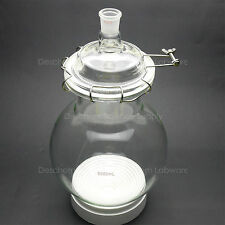 5000ml,Glass Reaction Kettle,24/29,Single Neck,5L,Round Bottom Chemical Reactor