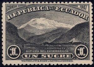 1908 Ecuador SC# 180 - Mt. Chimborazo - M-HR