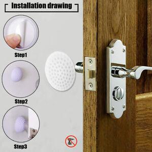 4x Wall Protector Self Adhesive Rubber Stop Door Handle Bumper Guard Stopper New
