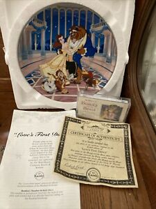 """Walt Disney's Beauty And The Beast """"Loves First Dance"""" # 13653B 1854 Knowles"""