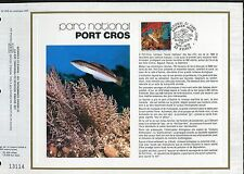 DOCUMENT CEF PREMIER JOUR  1978  TIMBRE   N° 2005 POISSON PARC DE PORT CROS