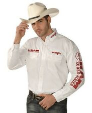 NWT Wrangler Dodge Ram Logo Rodeo Western Embroidered Long Sleeve.(SMALL) Shirt