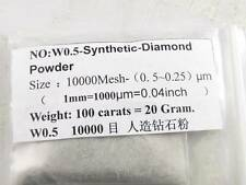 High Grade Synthetic Diamond Powder Lapidary 100carats=20g 10000Mesh 0. 5~0.25μm