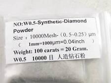 High Grade Synthetic Diamond Powder Lapidary 100carats=20g 10000Mesh 0. 5~0.25μm
