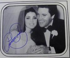 PRISCILLA PRESLEY ELVIS AUTHENTIC SIGNED AUTOGRAPHED WEDDING DAY B&W PHOTO
