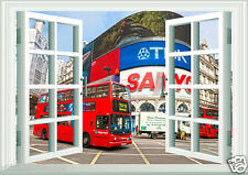 Window Scene London England Double Decker Bus Wall Art Sticker Free Postage