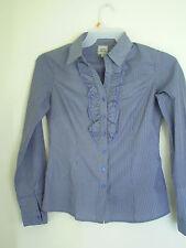 MAISON DE LA CHEMISE Women Ruffle Plaid Dress Shirt  Sz M