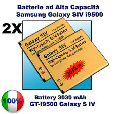 2X Batteria Gold GALAXY S4 MAGGIORATA 3030mAH - Più durata rispetto l'originale