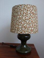 Tischlampe Tischleuchte Stoff Flowers 60er 70er LEOLA Leuchten - Made in Germany