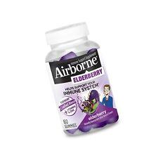 Elderberry + Vitamins & Zinc Blend Gummies, Airborne 60 Count Immune Support
